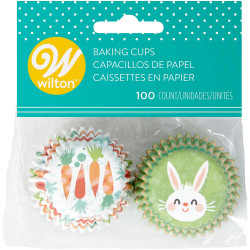 Wilton Mini Baking Cases - Pack of 100 - Easter Bunny and Carrots