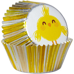 Wilton Standard Foil Baking Cases - Pack of 24 - Easter Chick