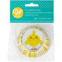 Wilton Standard Foil Baking Cases - Pack of 24 - Easter Chick
