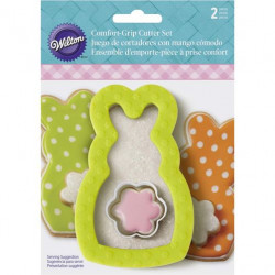 COMFORT-GRIP EASTER BUNNY COOKIE CUTTER SET