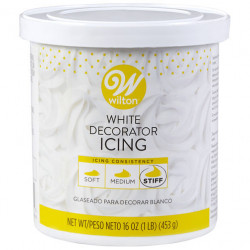 1LB WHITE STIFF DECORATING ICING