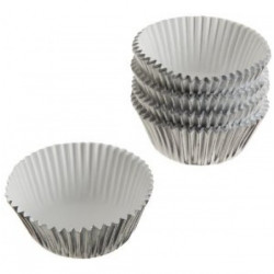 SILVER FOIL MINI BAKING CUPS