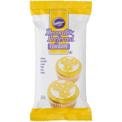 WILTON DECORATOR PREFERRED FONDANT YELLOW -250G-