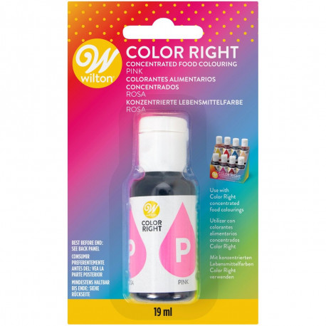 WILTON COLOR RIGHT FOOD COLOR -PINK- 19ML