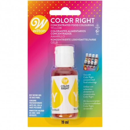 WILTON COLOR RIGHT FOOD COLOR -YELLOW- 19ML