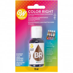 WILTON COLOR RIGHT FOOD COLOR -BROWN- 19ML