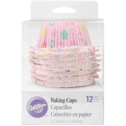 CUPCAKE BAKING CUPS WITH RUFFLED EDGES 12CT