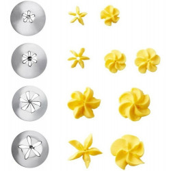 WILTON DECORATING TIP SET FLOWERS