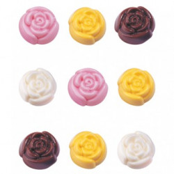 CANDY MOLD BLOOMING ROSES
