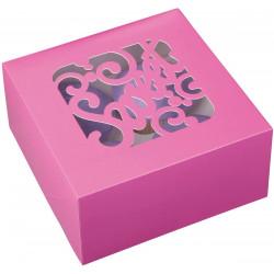 4 CAVITY PINK CUPCAKE BOXES