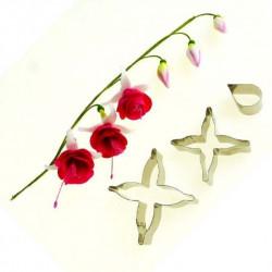 FUCHSIA FLOWER PETAL CUTTERS SET3