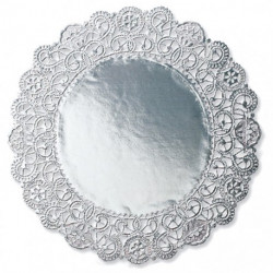 10IN SILV DOILIES 6PK