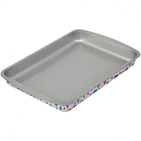 Bake and Bring Geometric Print Non-Stick Oblong Pan