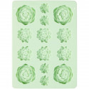 WILTON SILICONE CANDY MOLD -SUCCULENTS