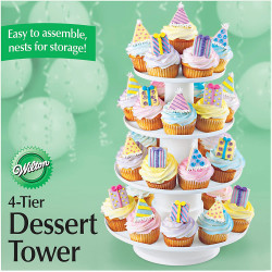 4 TIER STACKED DESSERT TOWER
